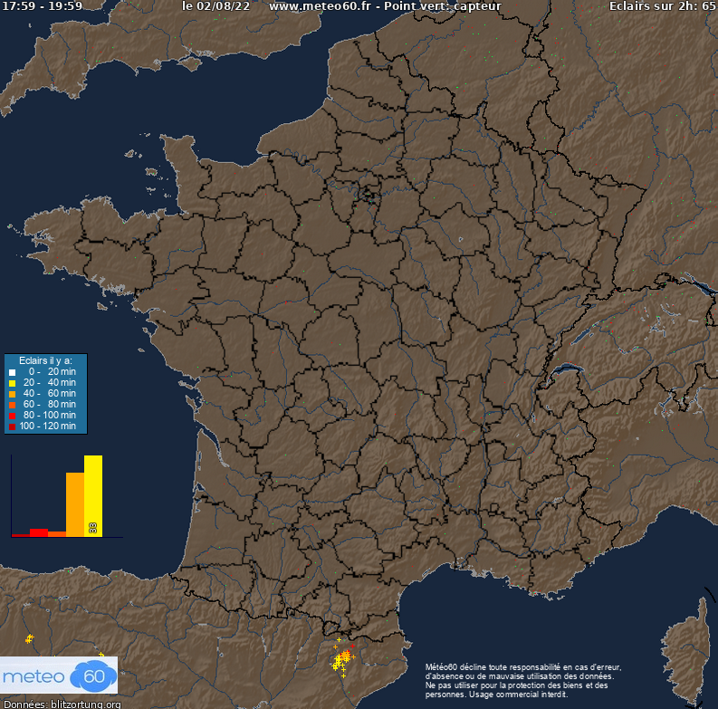 Les impacts de foudre en France