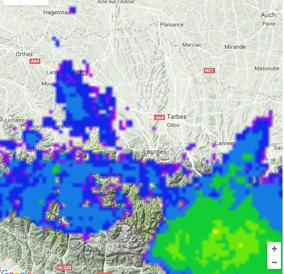 Carte Precipitation Alsace.Image Radars Des Precipitations En France Suivi Pluie Et
