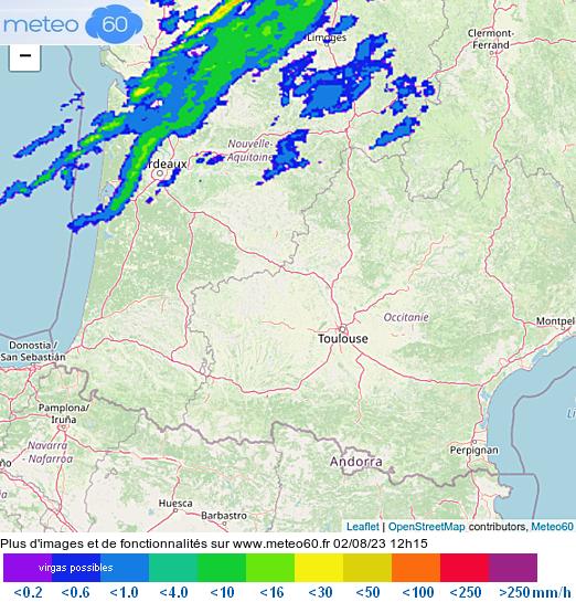 radar pluie neige Pyrénées